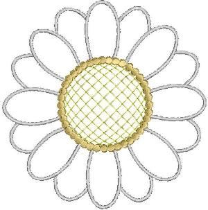 Free Crochet Pattern Sunflower Applique