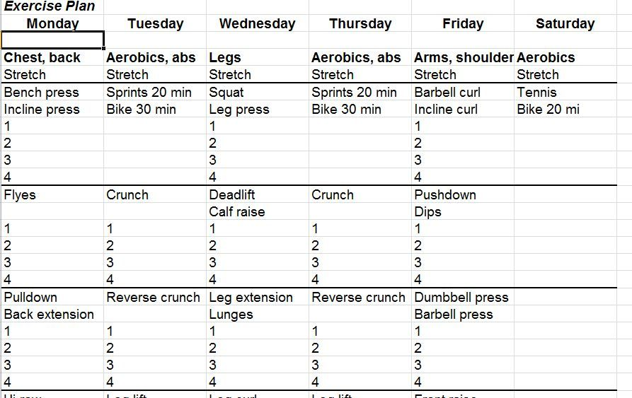 Exceptional Pin By Niki Hensley On Health \ Fitness Tips \ Exercises   Exercise Plan  Template