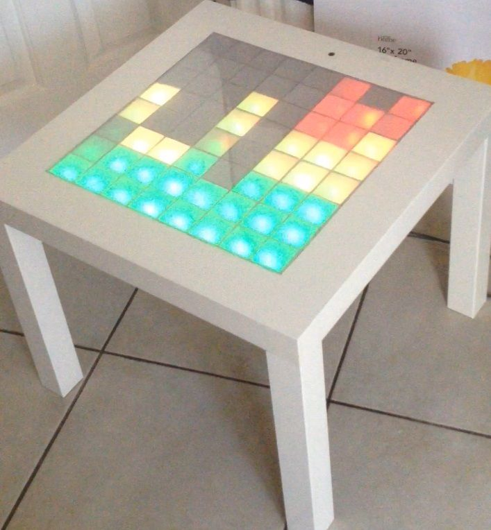 Ikea Lack Table Is Now A Music Led Visualiser Ikea Hackers Ikea Lack Table Ikea Table Music Visualization