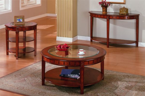 Fine Round Brown Cherry Glass Cocktail Table Coffee Table With Dailytribune Chair Design For Home Dailytribuneorg