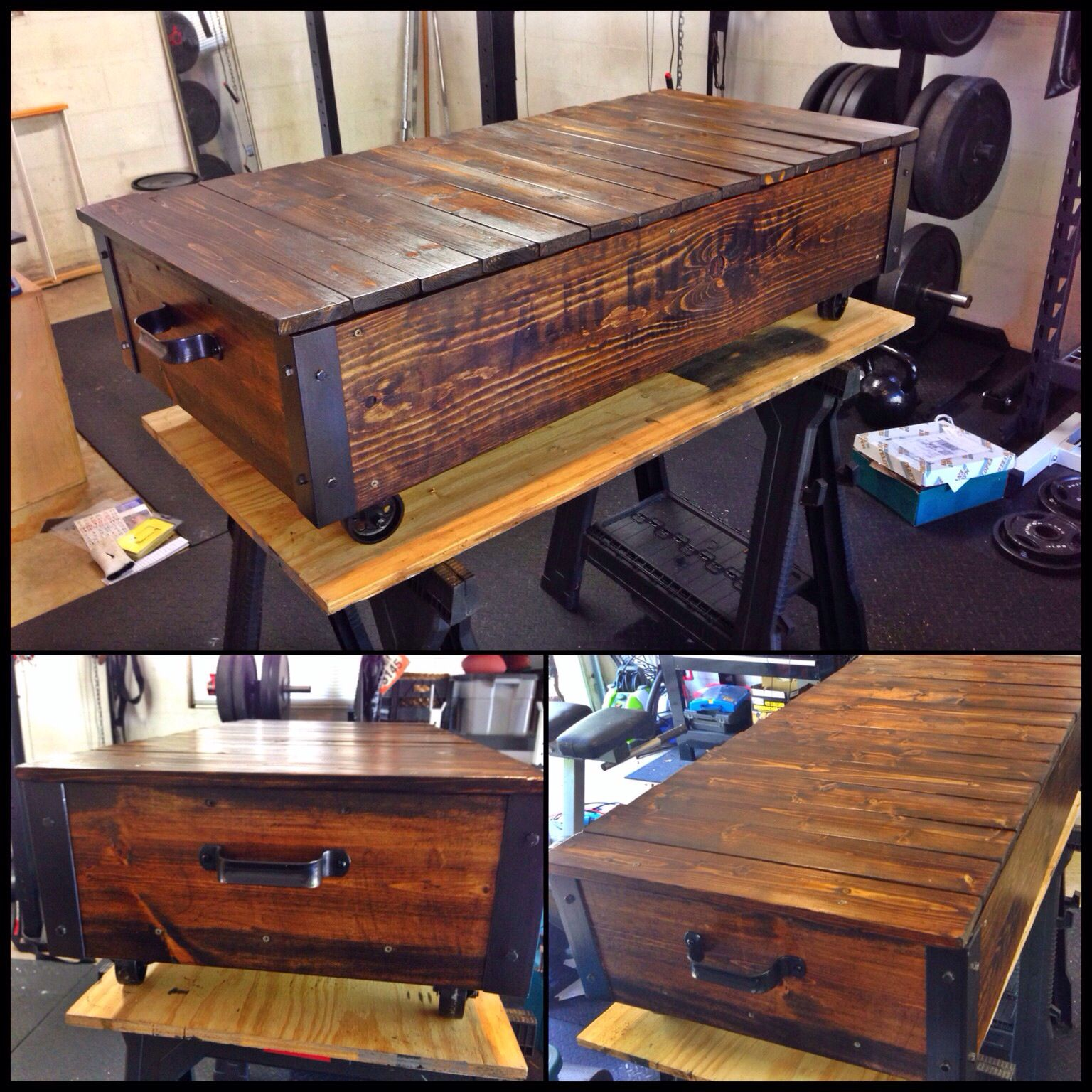 Here Is A Railroad Cart Coffee Table I Made Using White