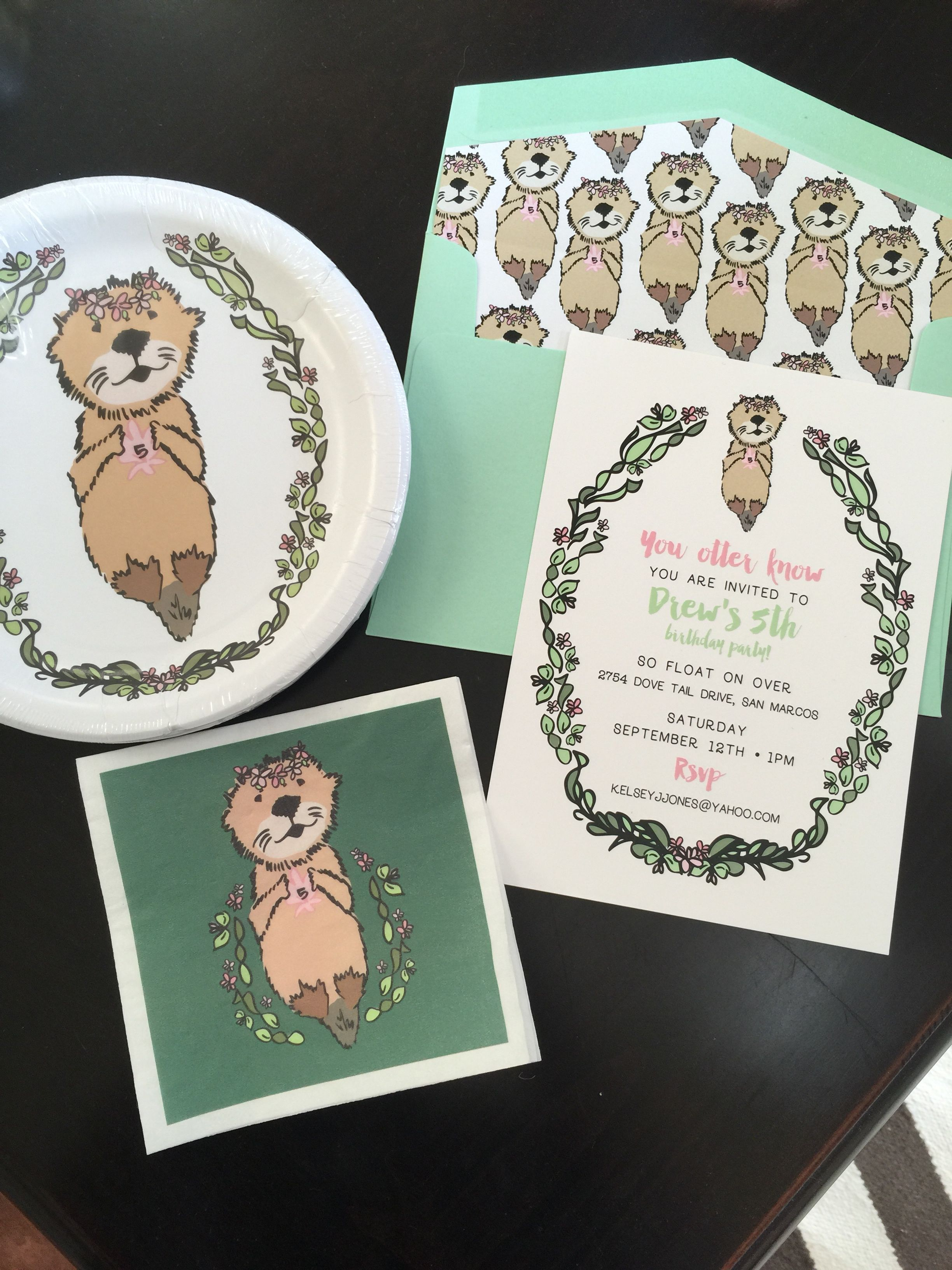 Drew\'s Sea Otter birthday party! Invitations and sea otter design by ...