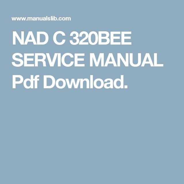 nad 320bee manual