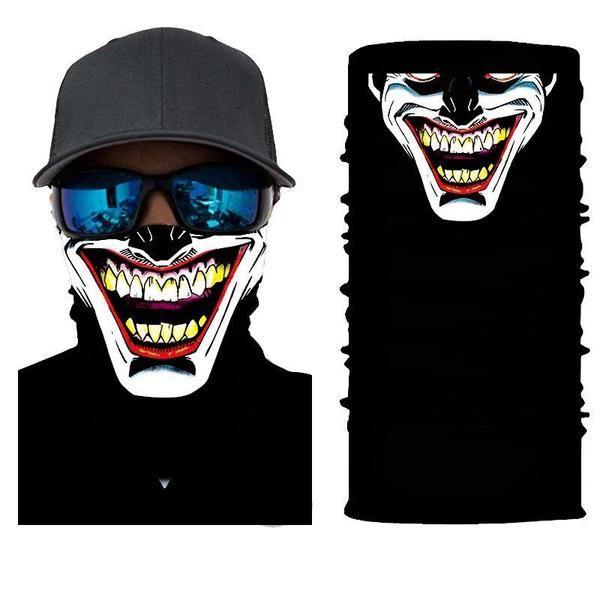 Halbgesichtsmaske Bandana Mit Witzigem Gesichts Motiv Face Mask Neck Gaiter Biker Bandanas