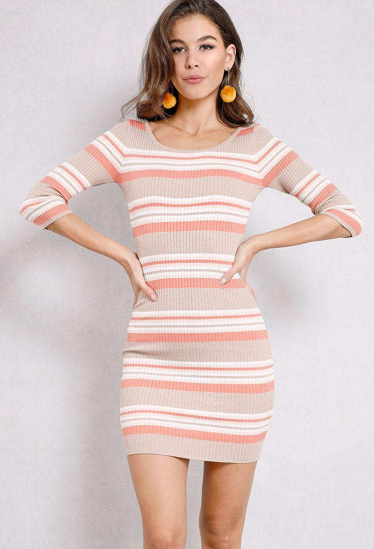 Striped Ribbed Bodycon Knit Dress Shop What S New At Papaya Clothing Short Knit Dress Knitted Bodycon Dress Shop Bodycon Dresses [ 1102 x 750 Pixel ]