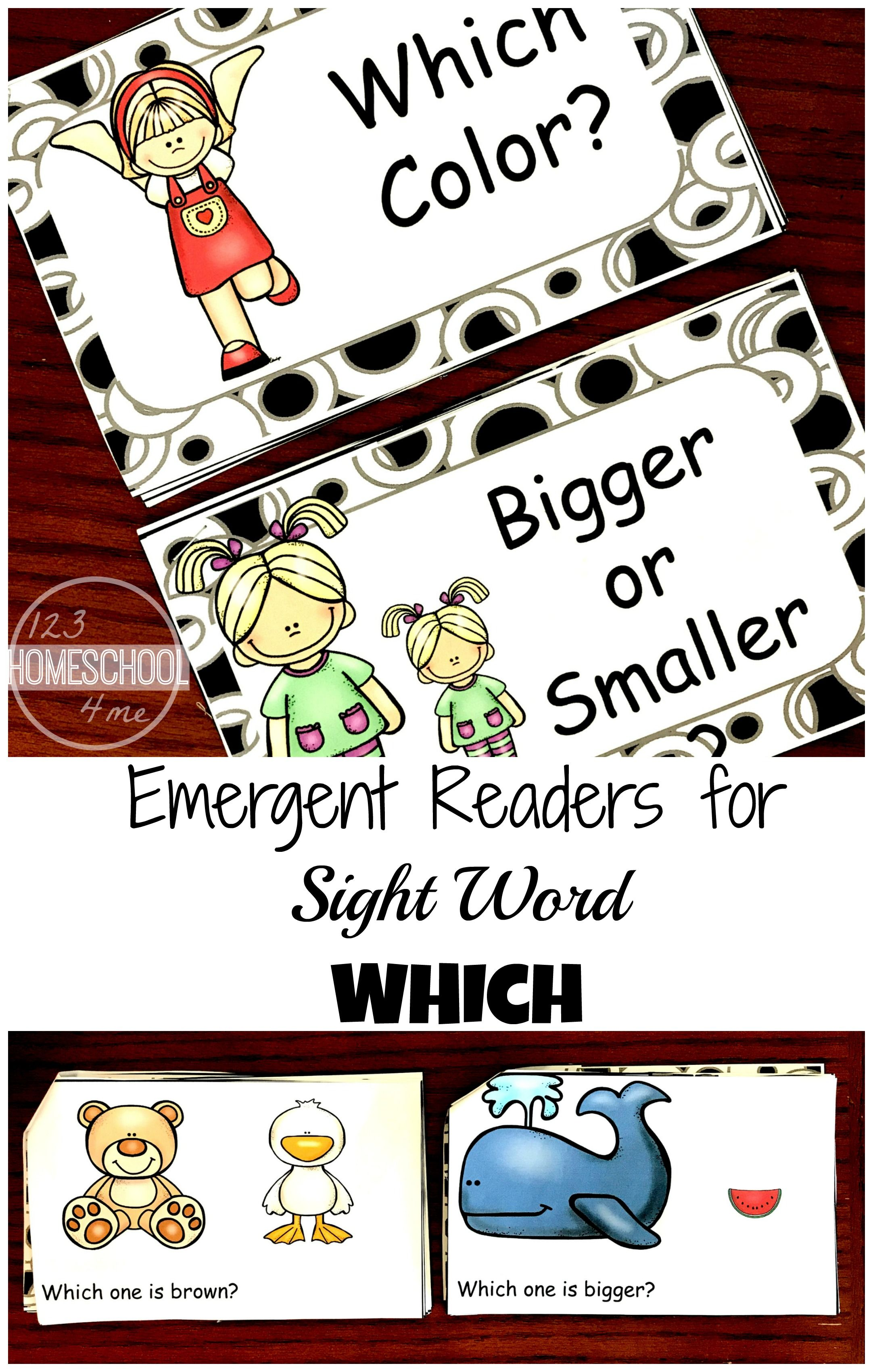 FREE Kindergarten Sight Words Emergent Reader | PLAY Activities for ...