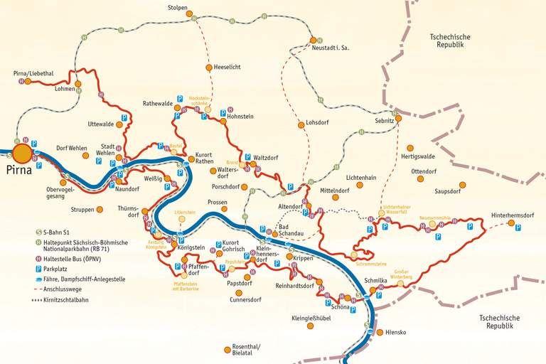 Malerweg Karte Malerweg Sachsische Schweiz Karte