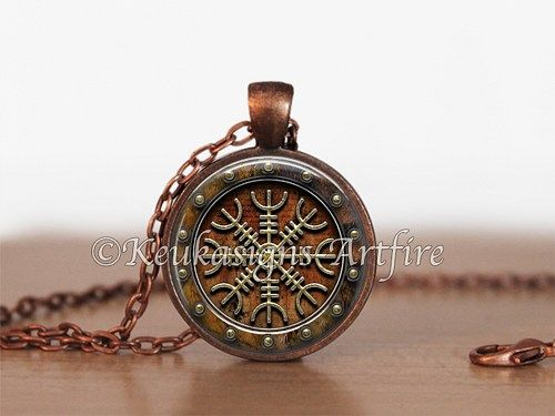Of awe viking pendant in copper with chain helm of awe viking pendant in copper with chain aloadofball Images