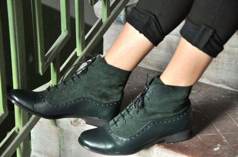 Armada - Womens Fall Boots, Lace-up Leather Boots,