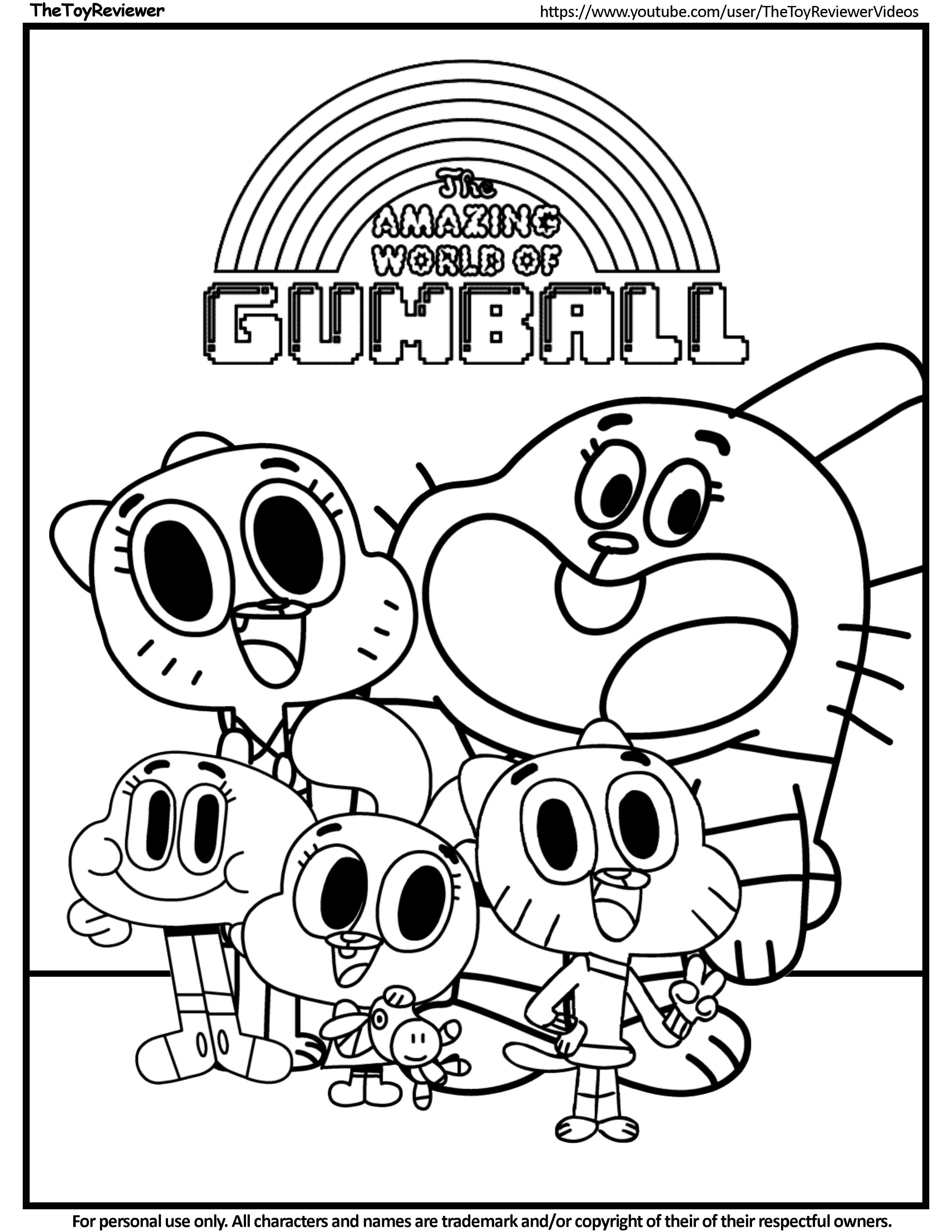 Gumball Cartoon Network Coloring Pages In 2020 The Amazing World