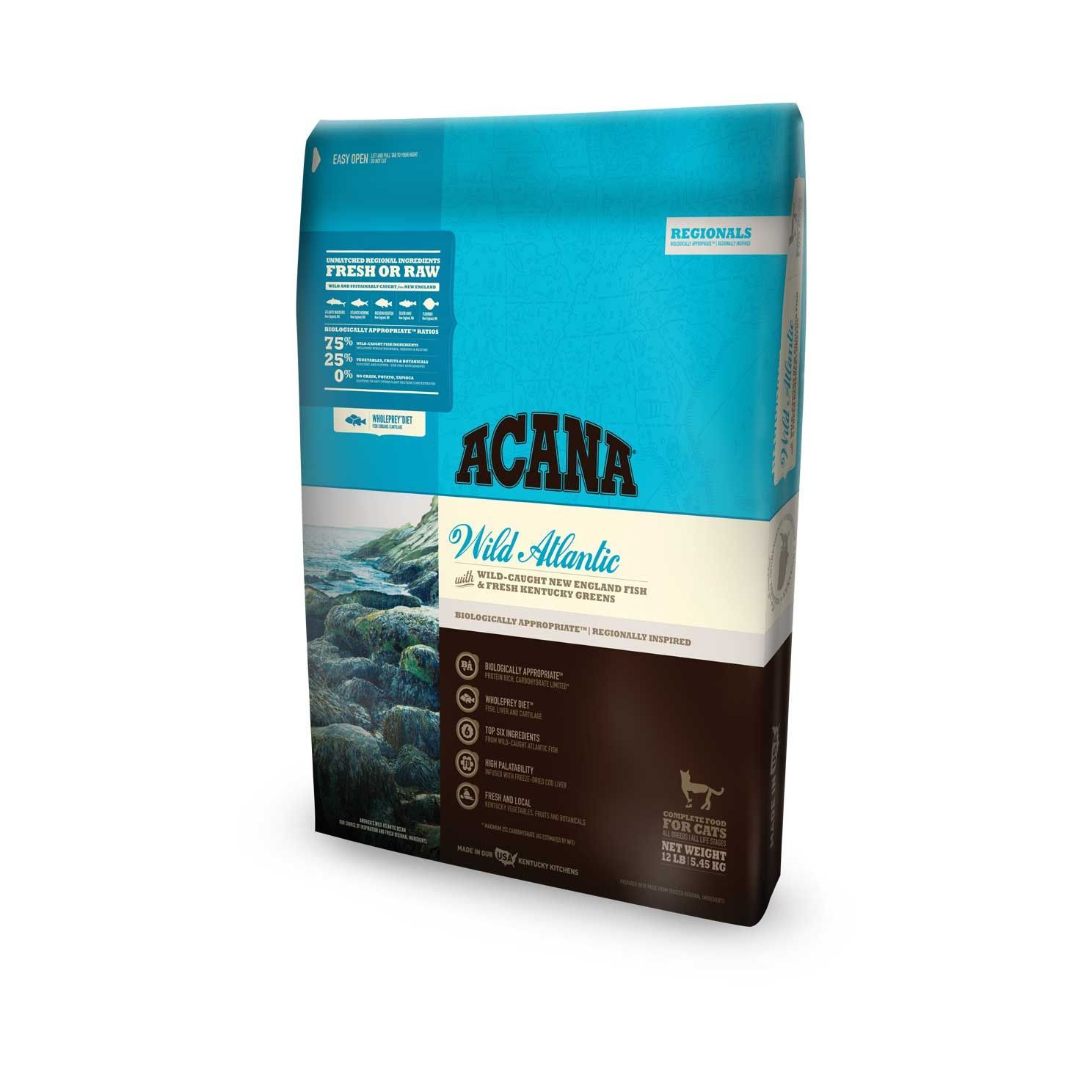 Acana Cat Food Regionals Wild Atlantic Cat Kitten Dry Dog