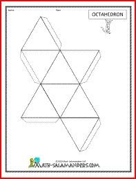 picture relating to Geometry Net Printable known as Octahedron web, printable internet for octahedron ×Drawings