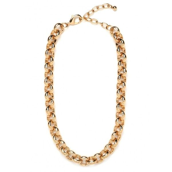 Gold Rolo Chain ($10) ❤ liked on Polyvore