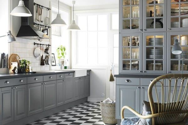 Style Selector Finding The Best IKEA Kitchen Cabinet Doors For Your - Light grey kitchen cabinets ikea