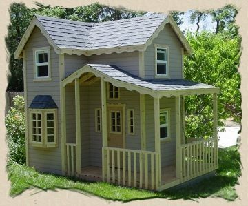 Outdoor playhouse plans this site has a variety of for Outdoor playhouse kit