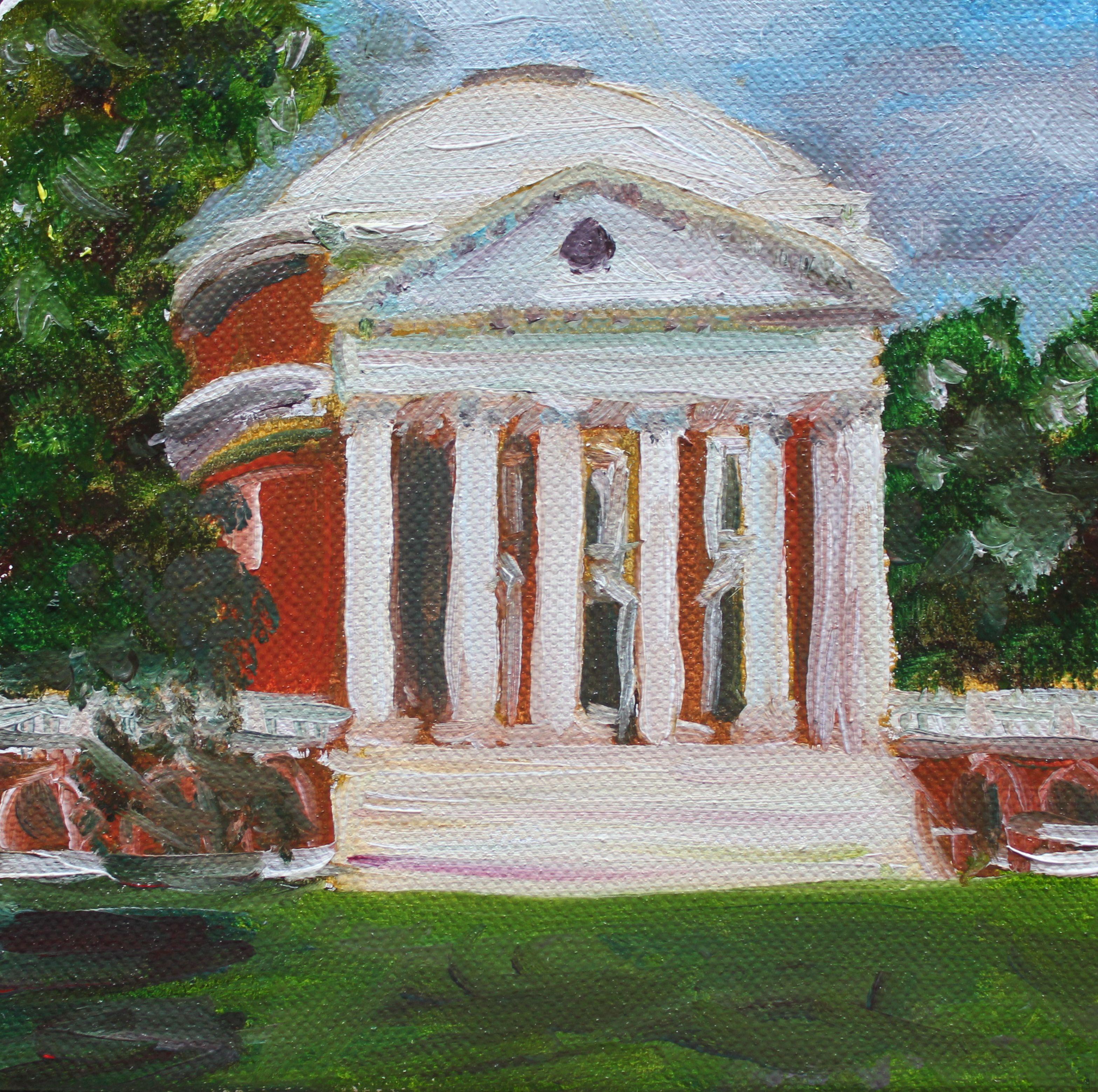 Uva Rotunda Paintings Painted For Graduation Presents Virginia Art Art Projects Painting