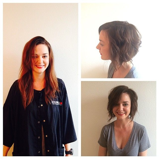 @tracib_tx did an awesome job on @bexntx! #salontrose #hair #bob #Houston #SundayFunday #ReadyForBrunch #brownbob