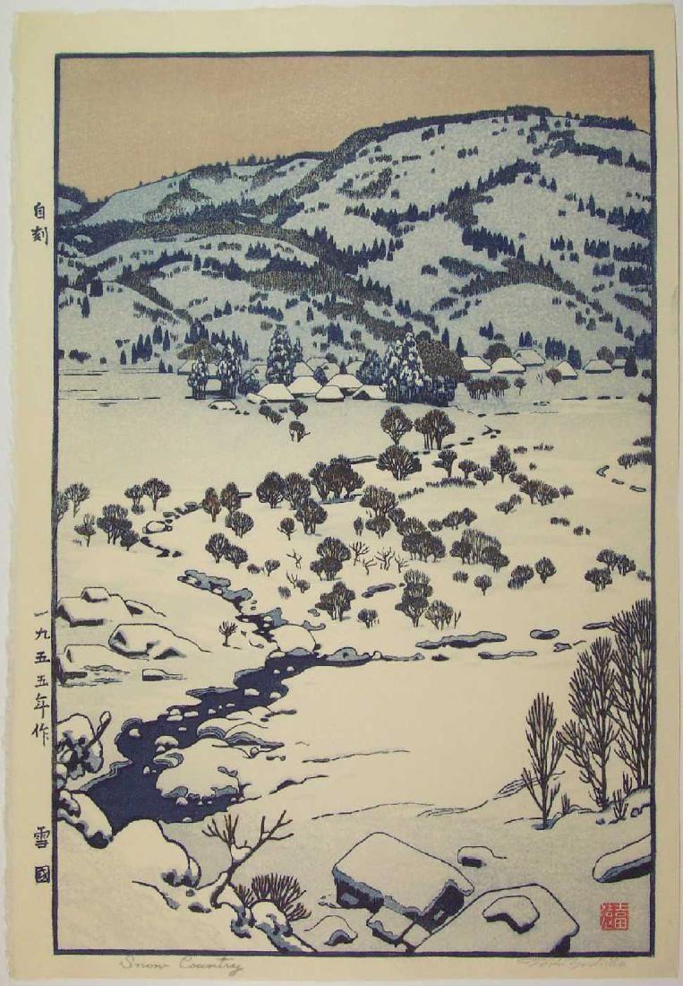 Artist Toshi Yoshida Title Snow Country Yuki Guni Date 1955