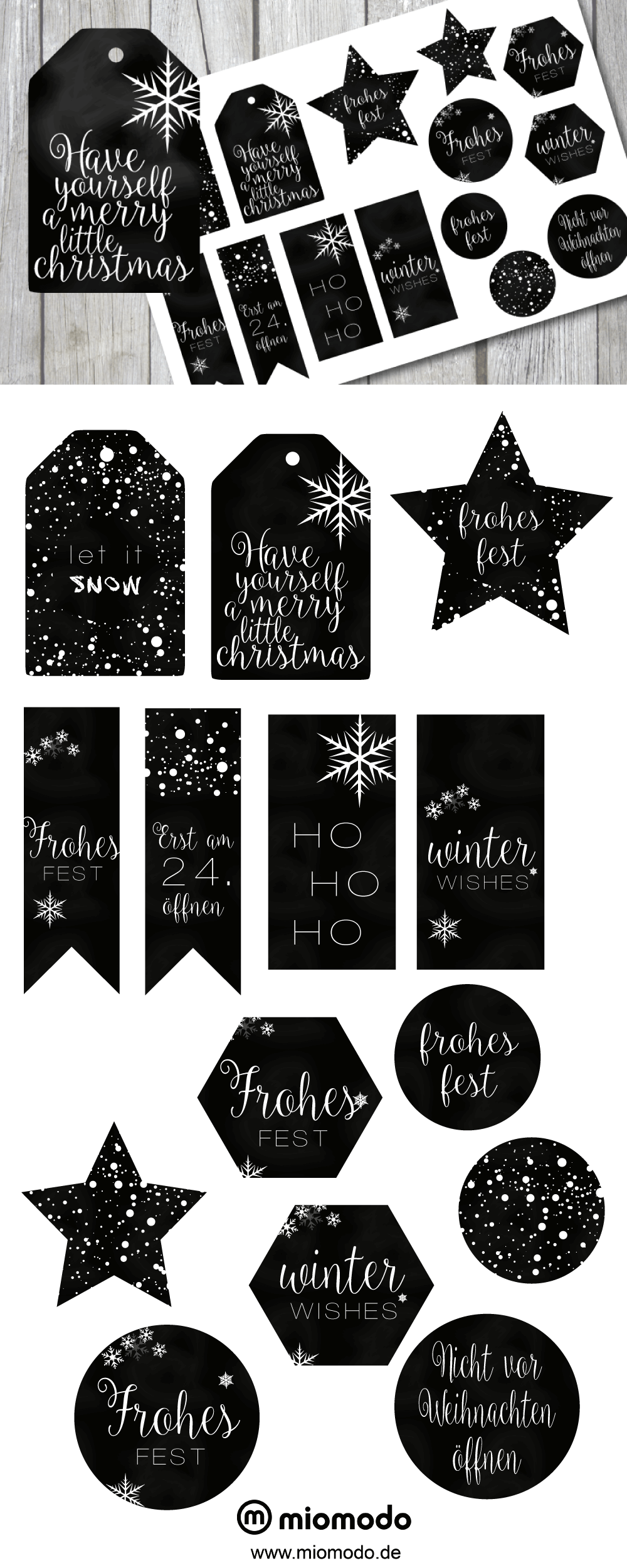 geschenkanh nger zum ausdrucken weihnachten miomodo blog miomodo blog freebies pinterest. Black Bedroom Furniture Sets. Home Design Ideas