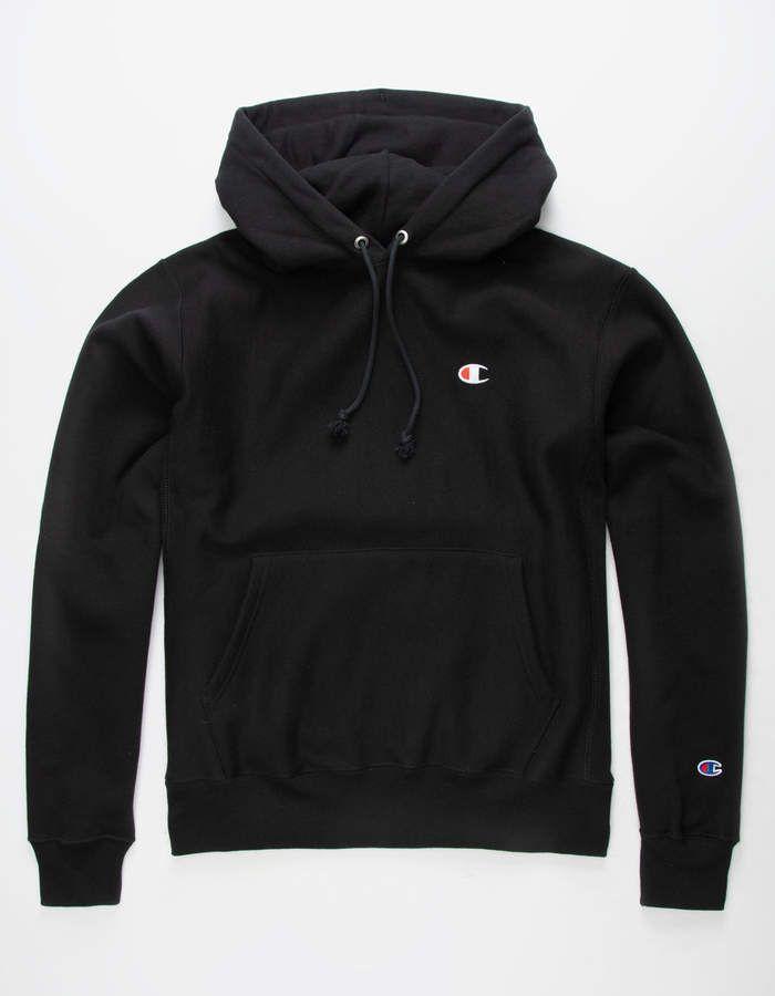 CHAMPION Reverse Weave Black Mens Hoodie - BLACK - 335504100