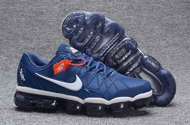 3a7727539697 Nike Air Max 2018 Leather Blue White Running Shoe