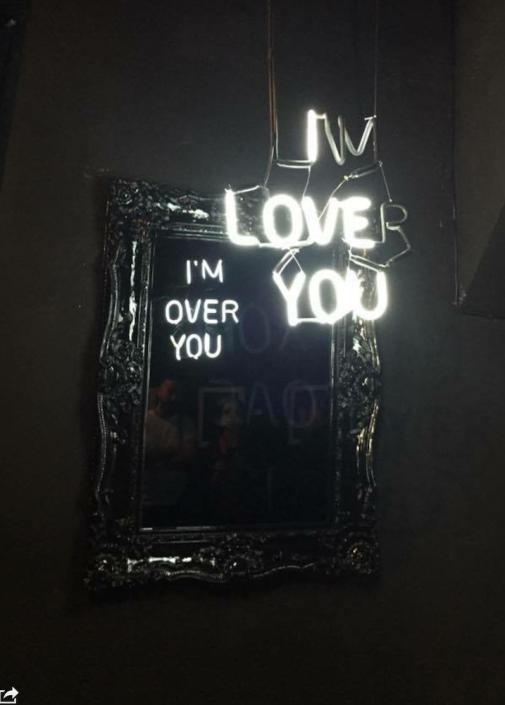 Camilo Matiz I Love You I M Over You Illuminazione Neon