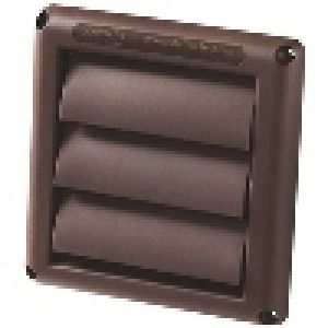 6 Louvered Hood Vent Brown Kitchen Venting Air Distribution Deflecto Kitchen Venting Bathroom Vent Vent Hood Dryer Vent Cover