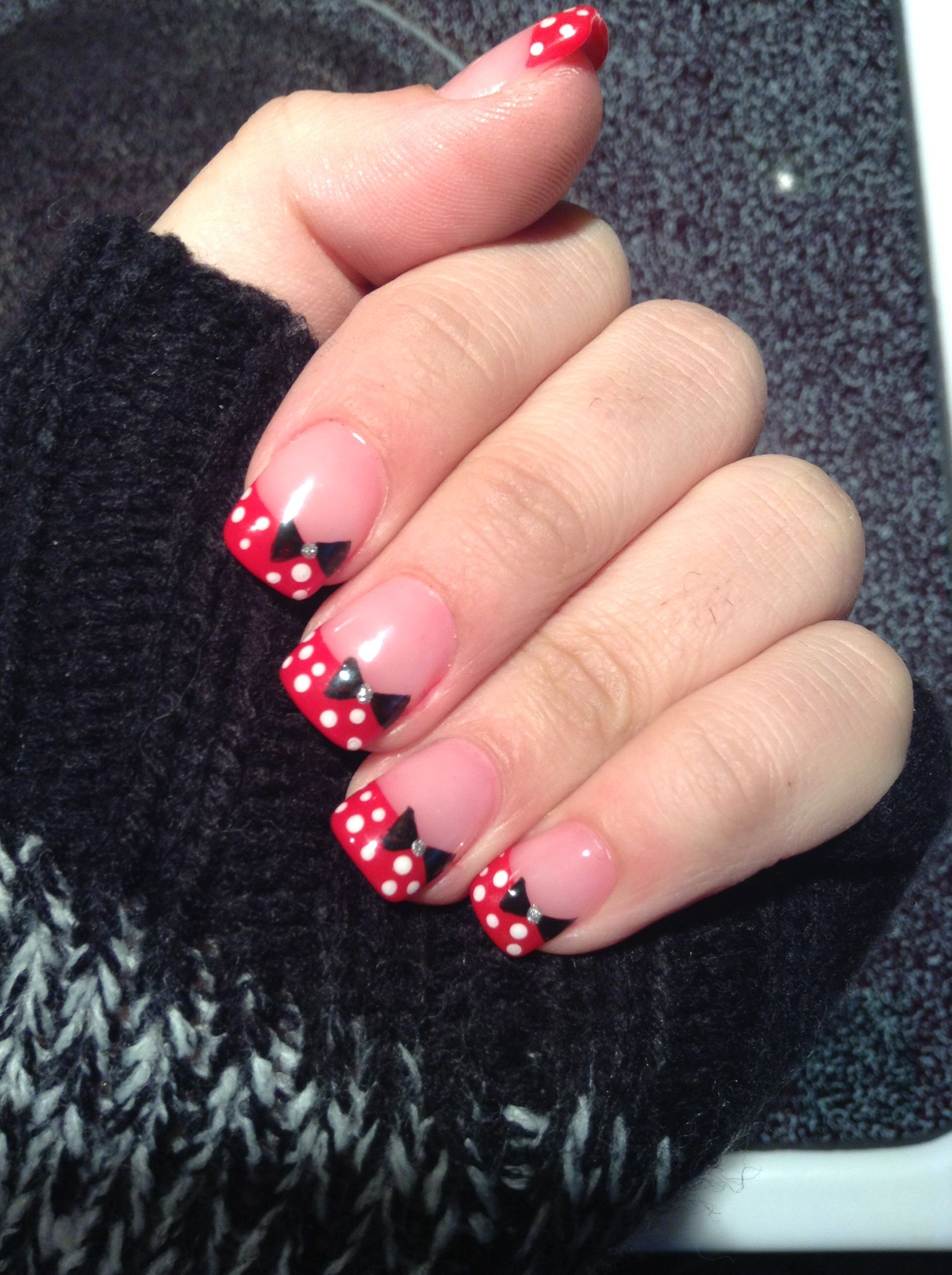 Minnie Mouse nails! | Beatiful picture | Pinterest | Uñas disney ...