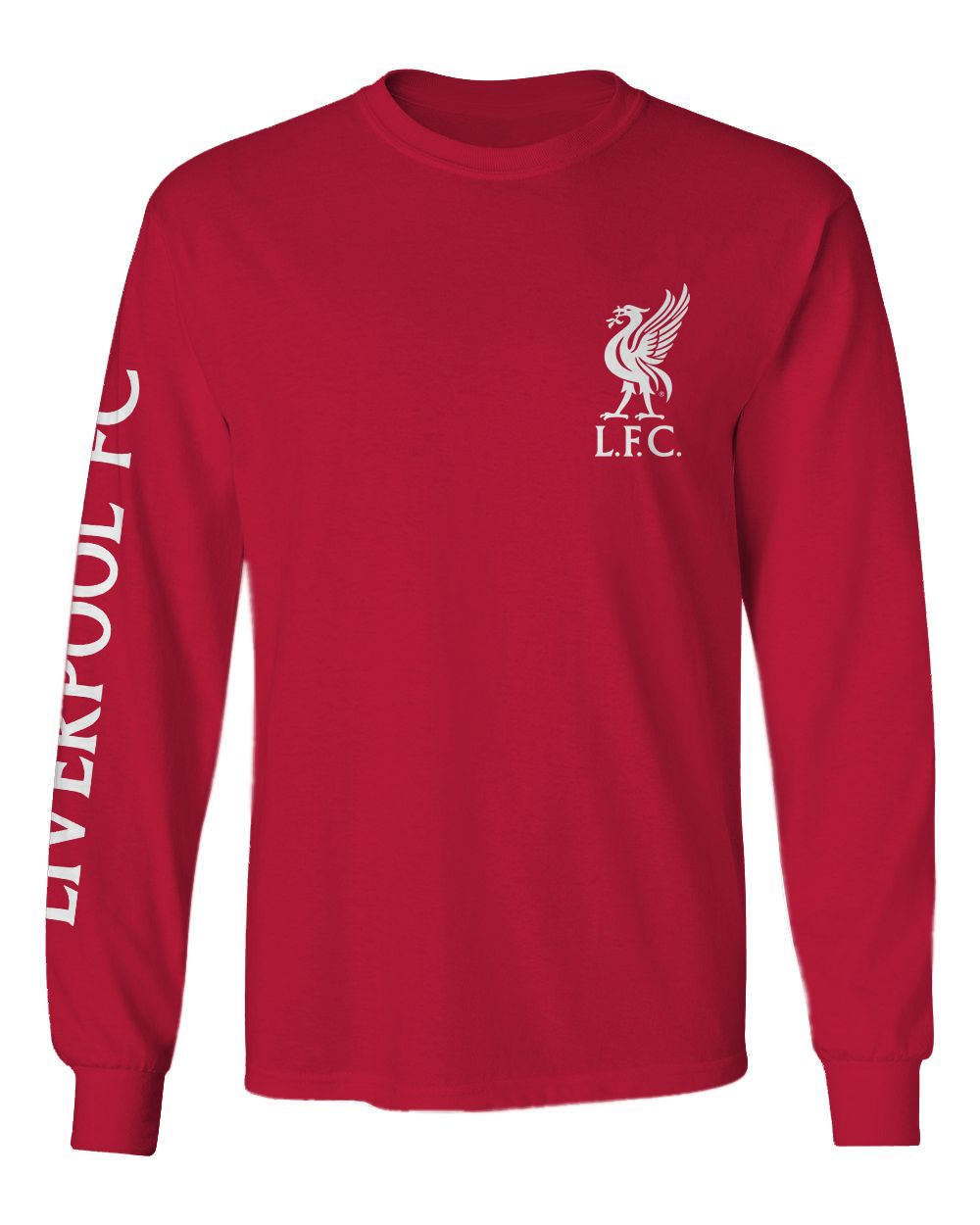 06d45959f63 Brett, Size M- Official Liverpool FC Red Slogan Long-Sleeve T-Shirt ...