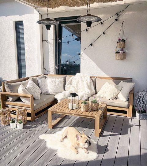Lounge Set Akazienhartholz braun TIMOR