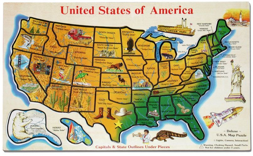 Northeast USA East Coast - Us map with tourist attractions