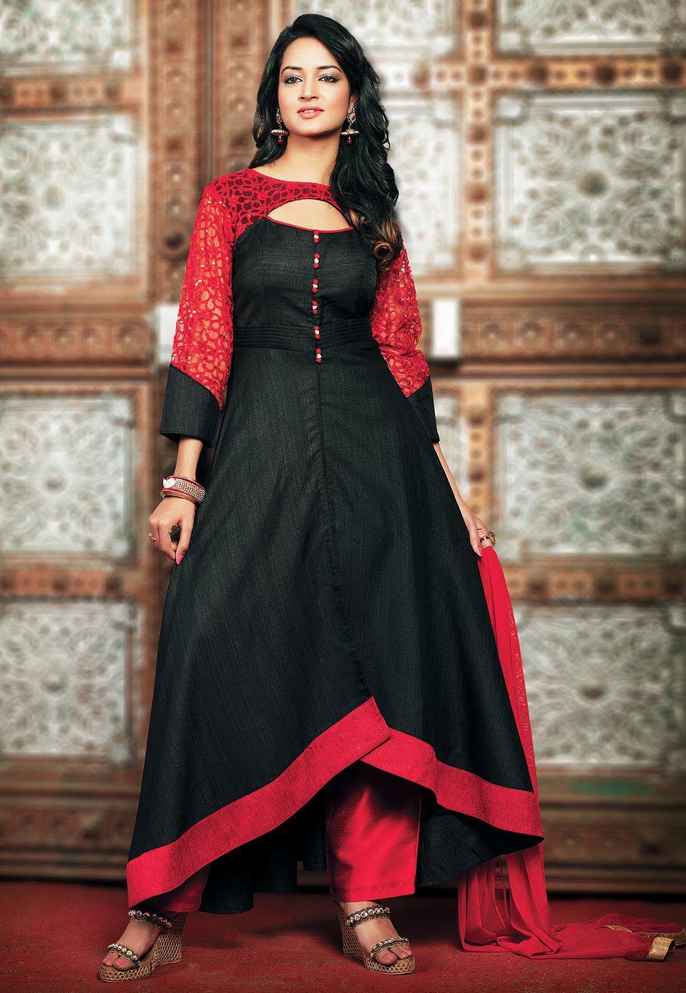 Asymmetric Pakistani Dress Design