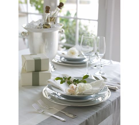 Spring Tabletop from Pottery Barn...simple whites