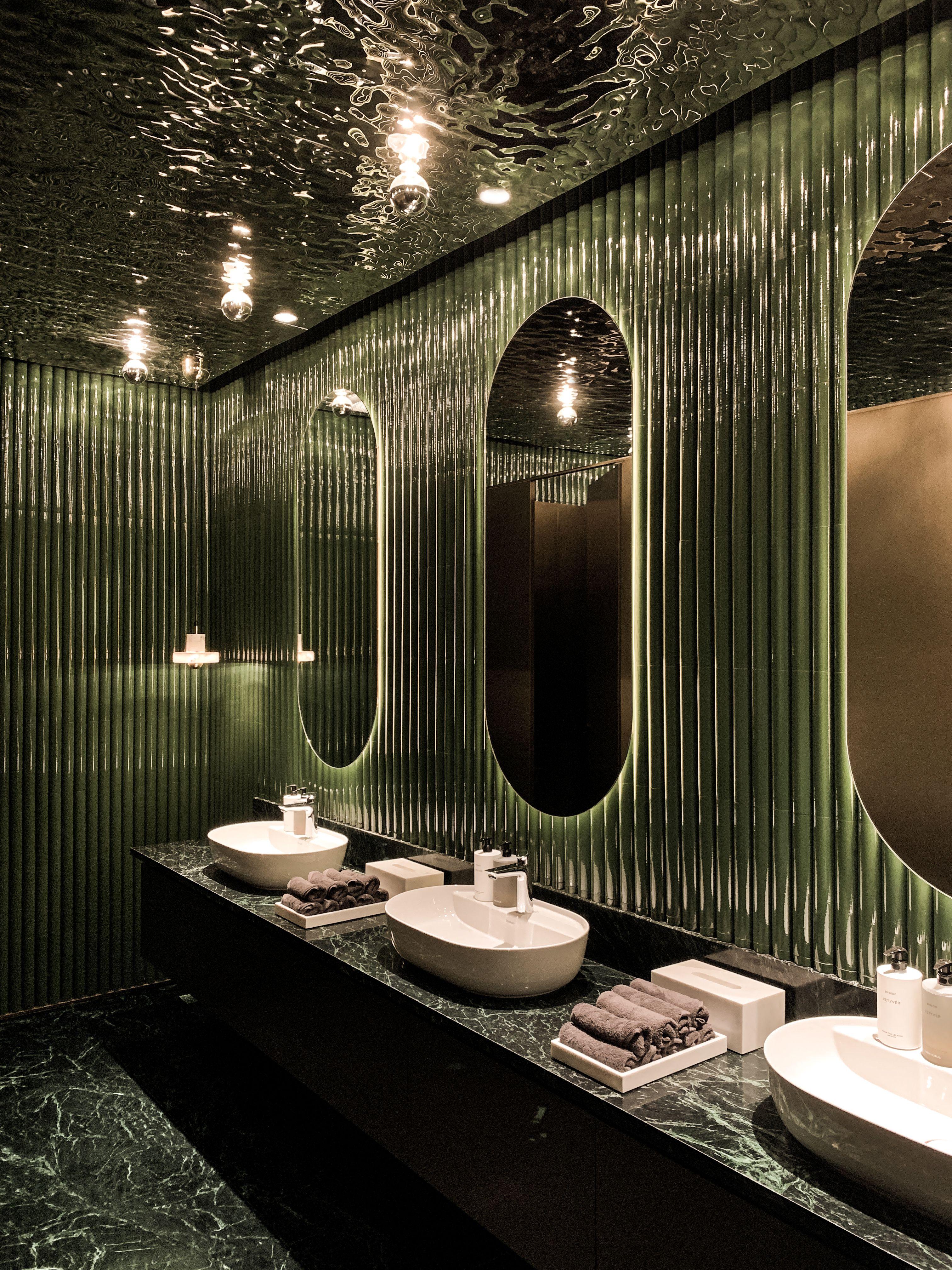 Rever Picture Gallery Restroom Design Restaurant Bathroom Cafe Interior Design