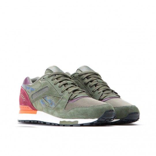 Reebok Gl 6000 Camo Olive Grun Rot Burgunder Sneaker Grun Sneaker Marken Sneaker