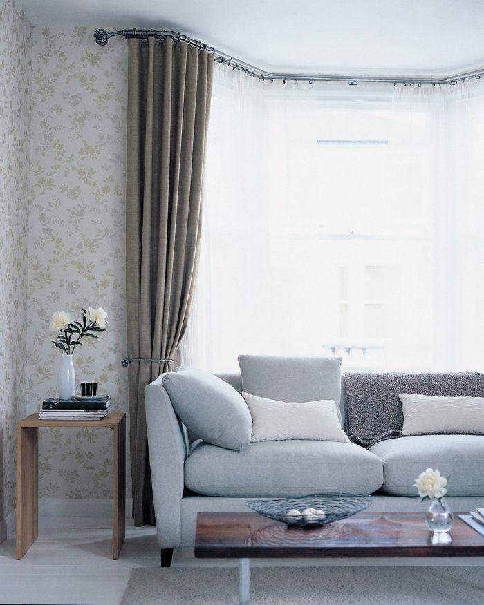 blickdichte gardinen elegant dezent wohnideen wohnzimmer ...
