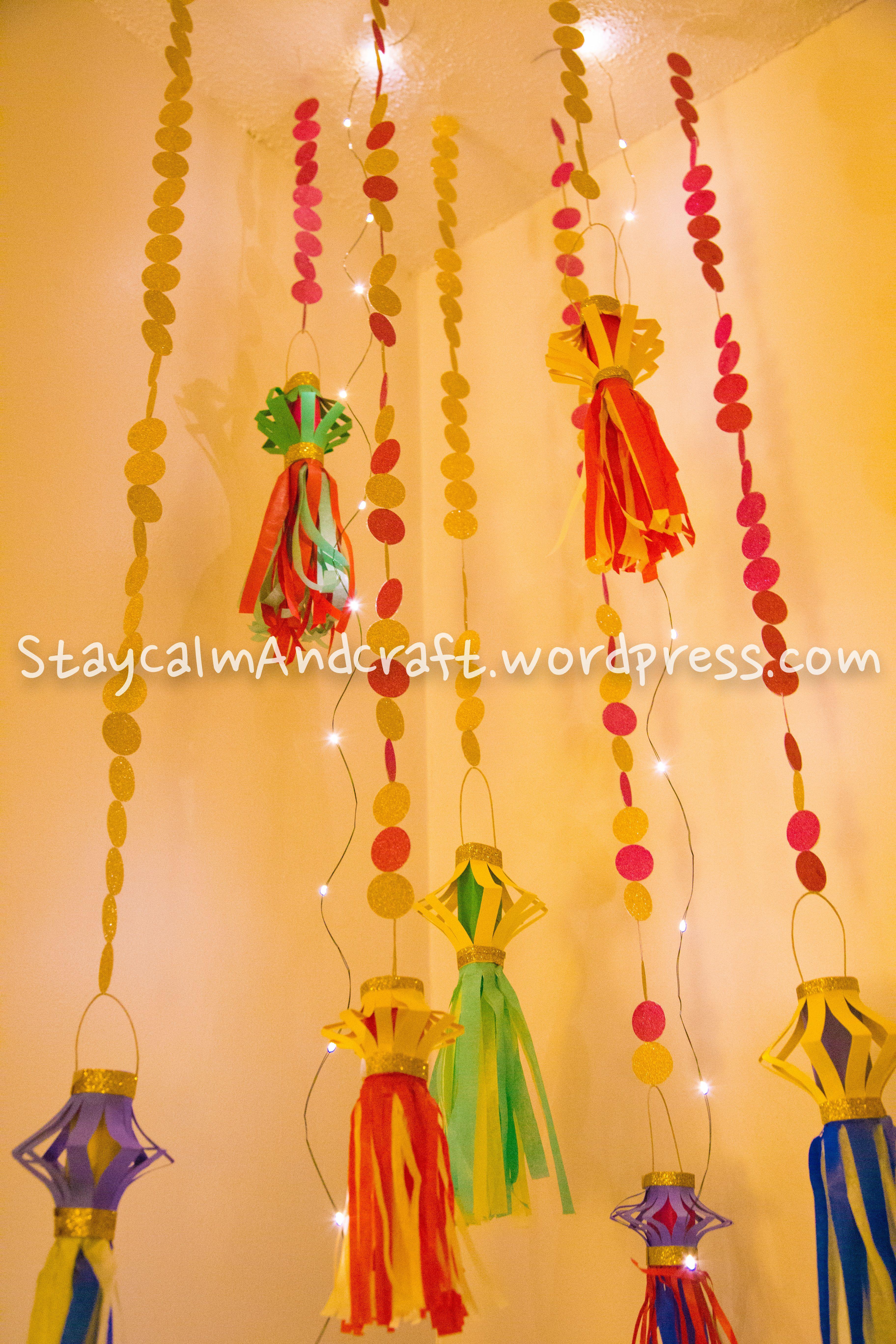Kandeel the paper lantern diwali decoration crafts for Diwali home decorations ideas