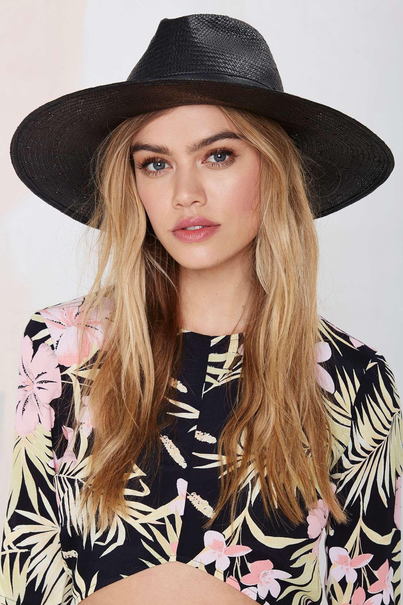 Brianni Straw Panama Hat