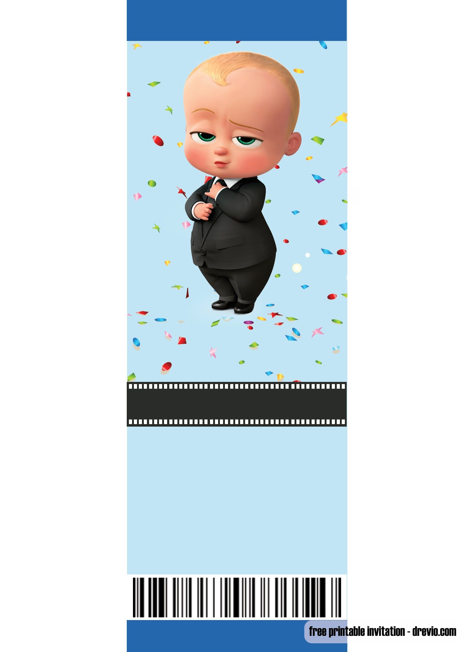Baby Boss Invitation Template For Your Adorable Little Boss Baby Birthday Invitations Baby Boy Invitations Baby Birthday Party Invitations
