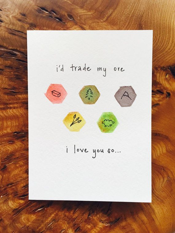 Settlers Of Catan Greeting Card Couples Anniversary Valentine Etsy Settlers Of Catan Catan Greeting Cards