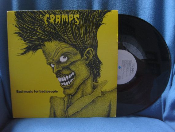 RARE Vintage The Cramps  Bad Music For Bad by sweetleafvinyl, $39.99