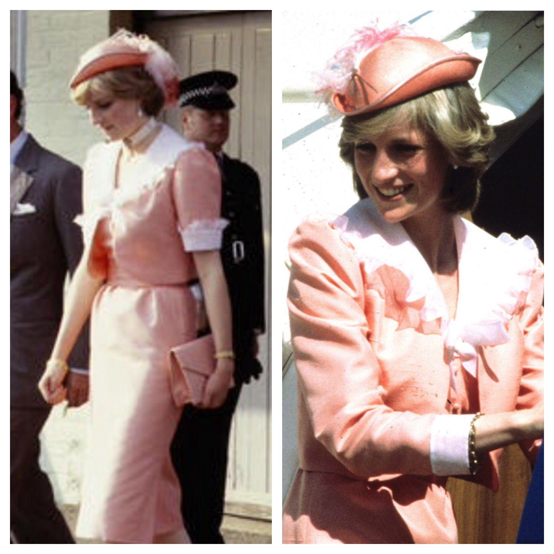 Wedding day 1981 and on Australia tour 1983 Princess