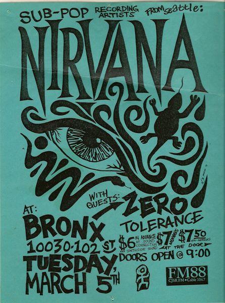 Nirvana. Love The Bold Black Hand Drawn Type
