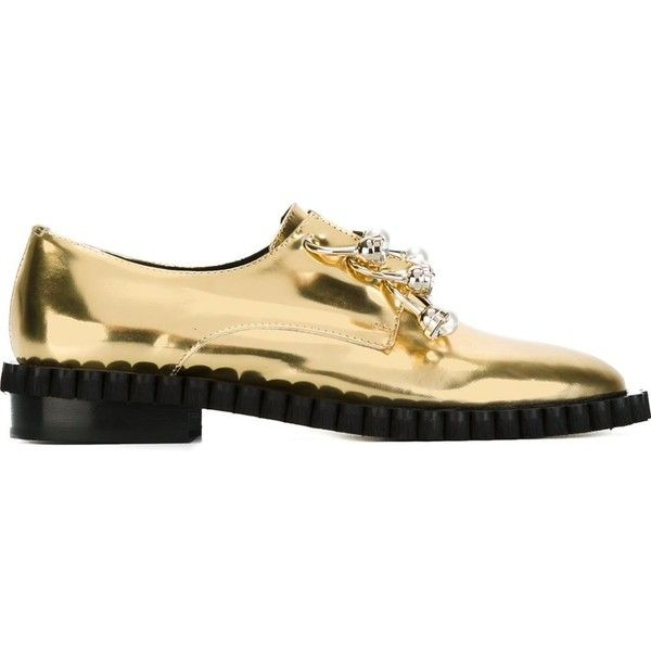 Coliac Cake Loafers (3.755 NOK) ❤ liked on Polyvore featuring shoes, loafers, flats, metallic, metallic flats, flat slip on shoes, leather flat shoes, flat shoes and metallic loafers
