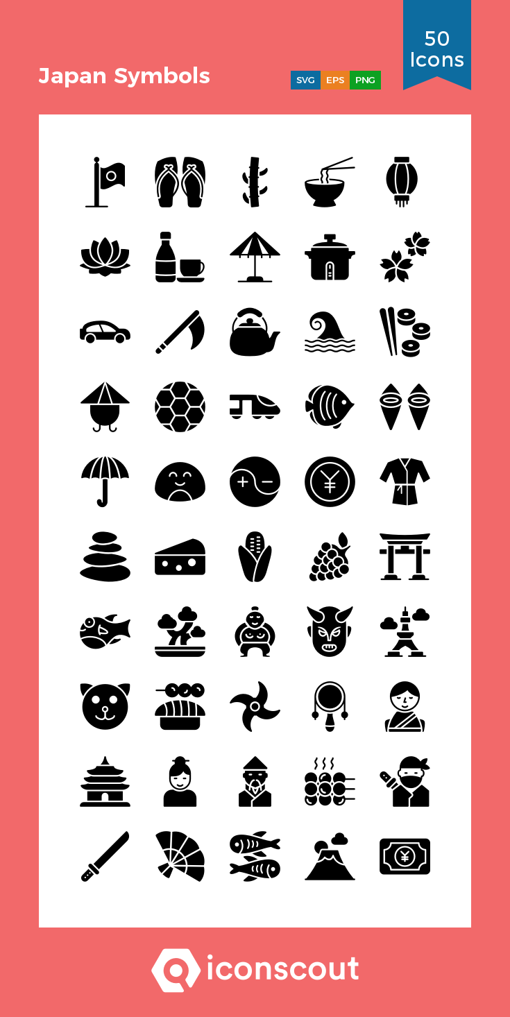 Download Japan Symbols Icon Pack Available In Svg Png Icon Fonts Symbols Icon Pack Glyph Icon