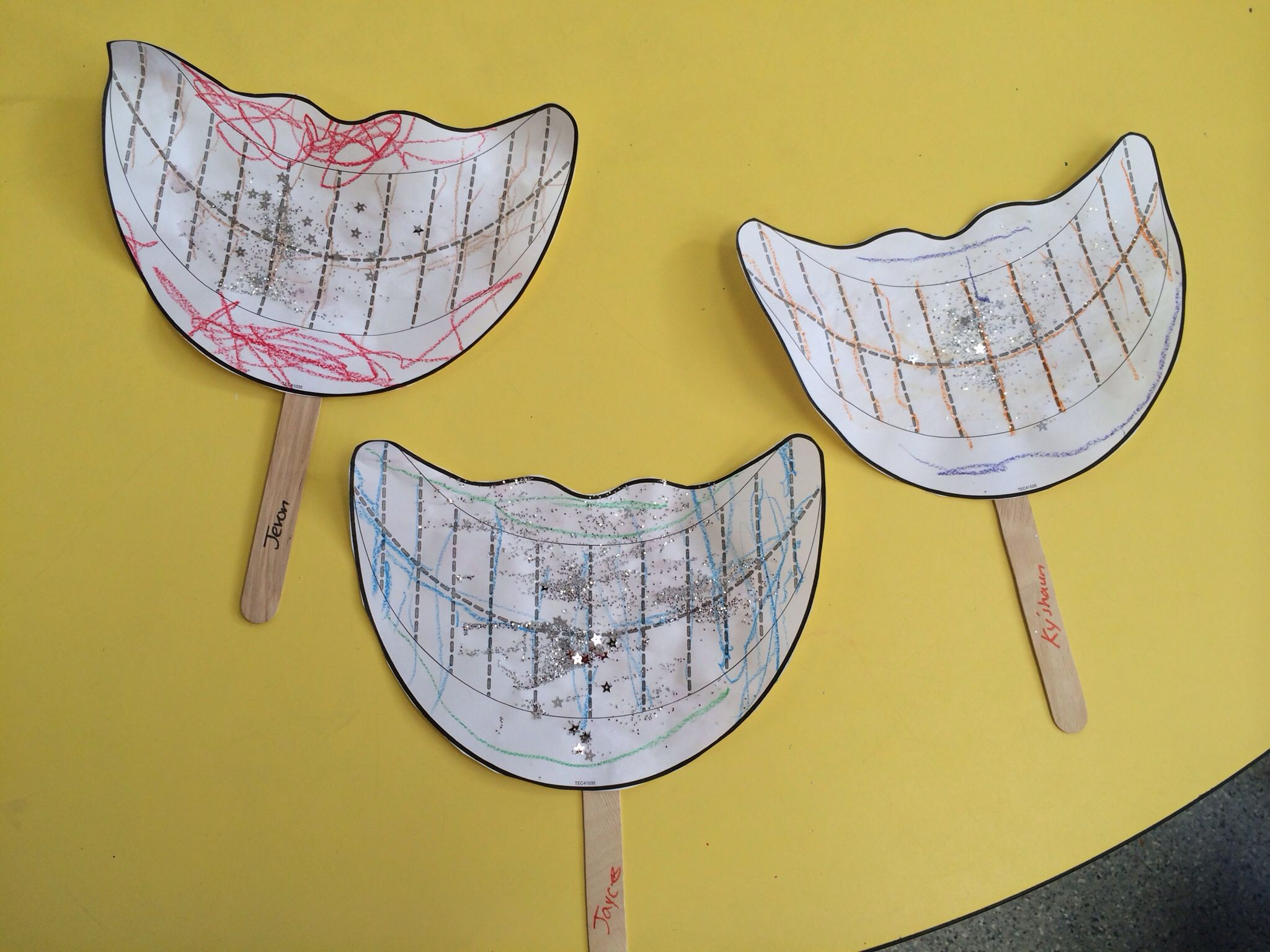 Dental Health Month They Traced The Lines To Make Teeth