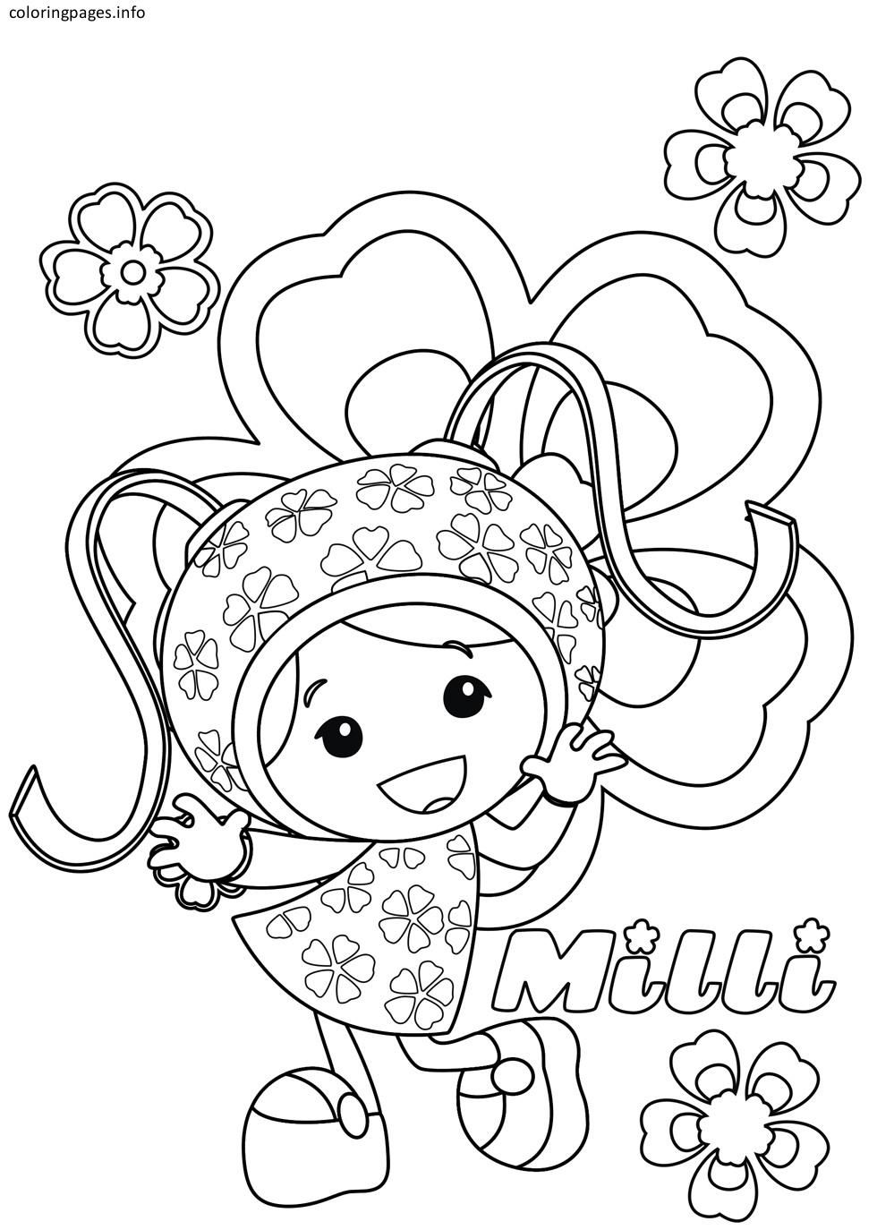 team umizoomi milli coloring pages DIY and crafts