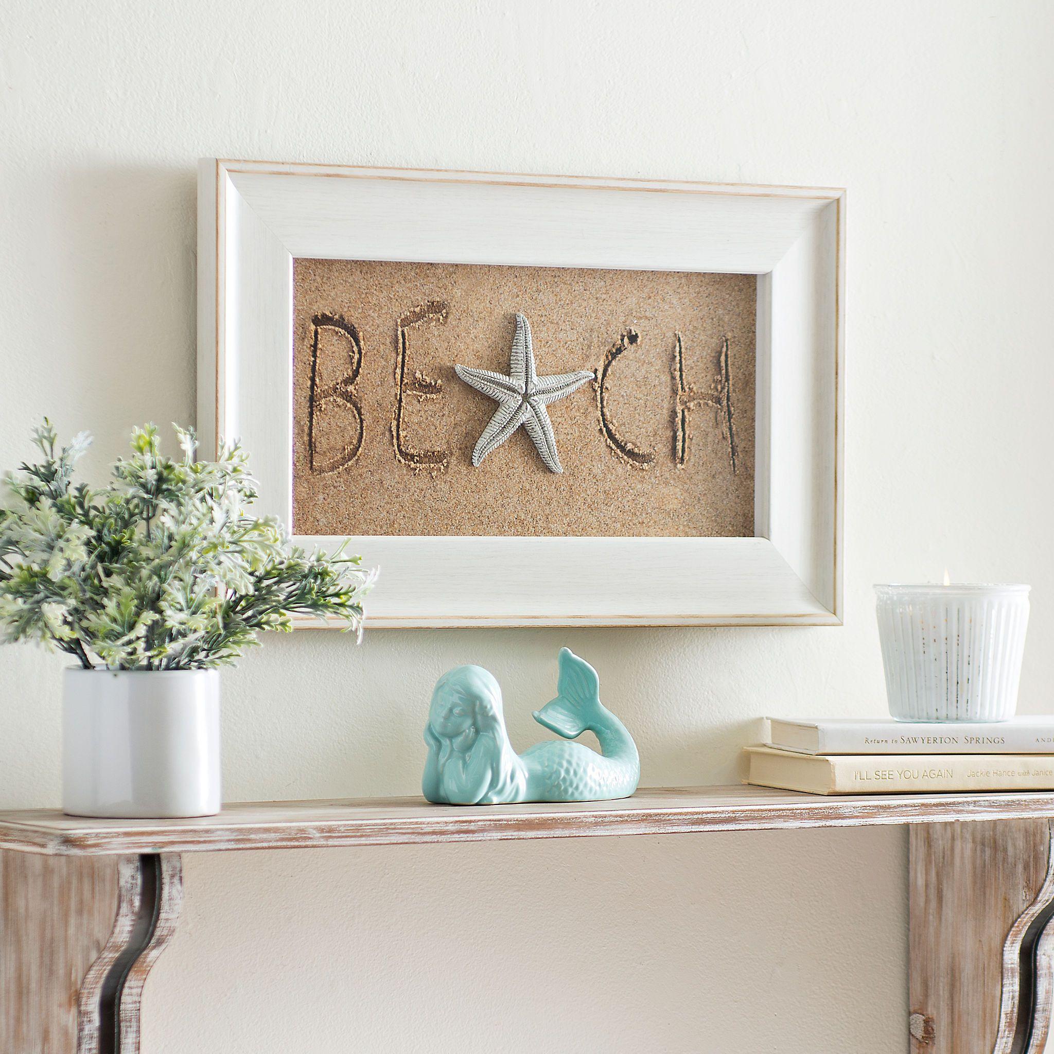 Beach treasures shadowbox kirklands beach cottage
