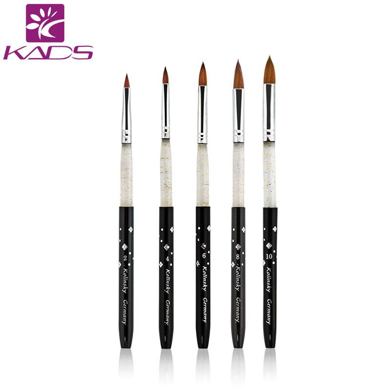 100 Kolinsky Sable Acrylic Brush 5 Pcs Set Ukuran 2 4 6 8 10 Acrylic Sikat Kolinsky Hitam Kolinsky Sable Acrylic Nai Acrylic Nail Brush Acrylic Brushes Nail Brushes