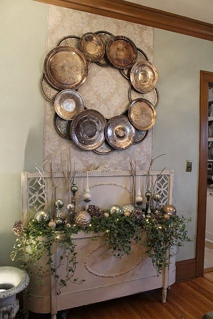 Dimples and Tangles: DOLLAR TREE METAL SERVING TRAY WREATH ...